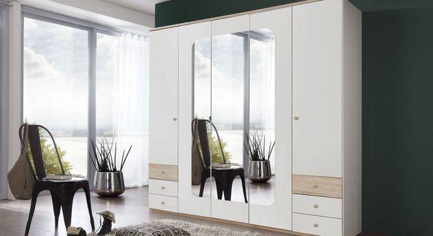 Funktions-Kleiderschrank Corvara mit 5 Drehtüren