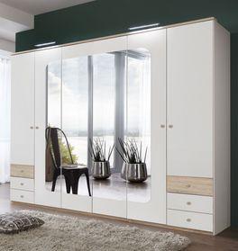 Funktions-Kleiderschrank Corvara inklusive Spiegel und Kranzleiste