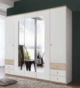 225 cm breiter Funktions-Kleiderschrank Corvara mit Spiegeltüren
