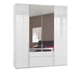 Funktions-Kleiderschrank Esperia mit Spiegel und Drehtüren