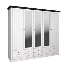 Funktions-Kleiderschrank Imala mit 3 Spiegeltüren