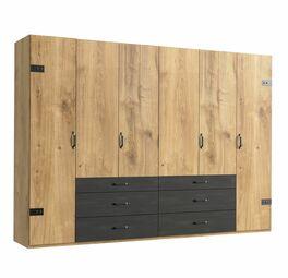 Funktions-Kleiderschrank Lakewood mit geteilten Schubladen