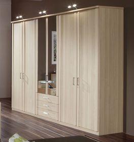 Funktions-Kleiderschrank Rapino mit Spiegeltüren und Schubladen