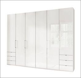 Funktions-Kleiderschrank Westville in modernem Weiß