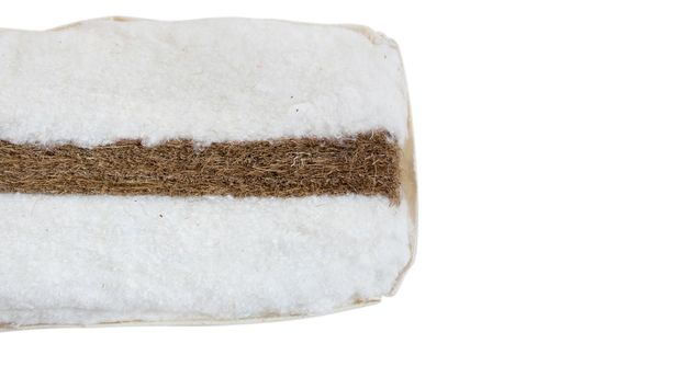 Querschnitt des Baumwoll-Kokos-Kerns der Futonmatratze