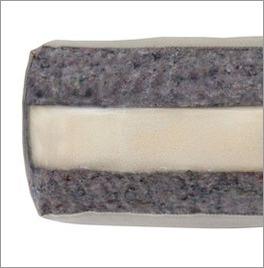 Futonsofa Borbona mit Matratze aus Wollmix und PU-Schaum