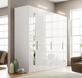 GALLERY M Drehtüren-Kleiderschrank IMOLA W in Weiß für Stauraum im Schlafzimmer