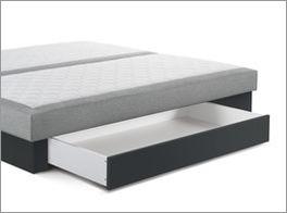 Grafik der deckend lackierten Bettschublade aus Massivholz