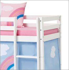 Halbhohes Bett Einhorn mit einfachen Einstieg per Leiter