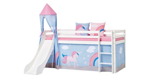 Großes halbhohes Bett Einhorn mit alternativer Ausstattung