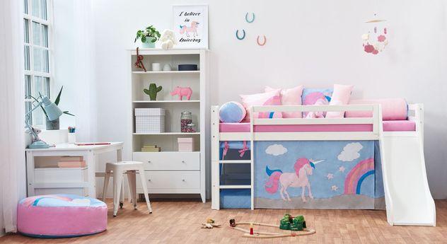 Halbhohes Bett Einhorn mit passenden Produkten