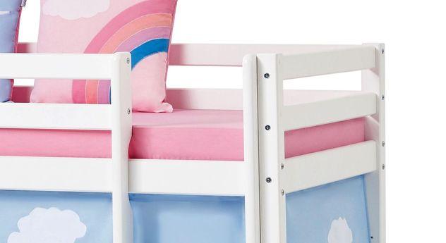 Halbhohes Bett Einhorn mit stabilen Schraubverbindungen