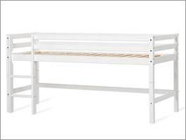 Halbhohes Bett inklusive stabilem Roll-Lattenrost
