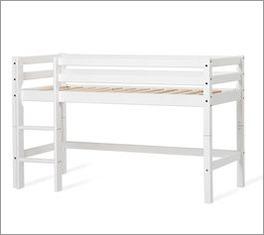 Halbhohes Bett für Kleinkinder geeignet