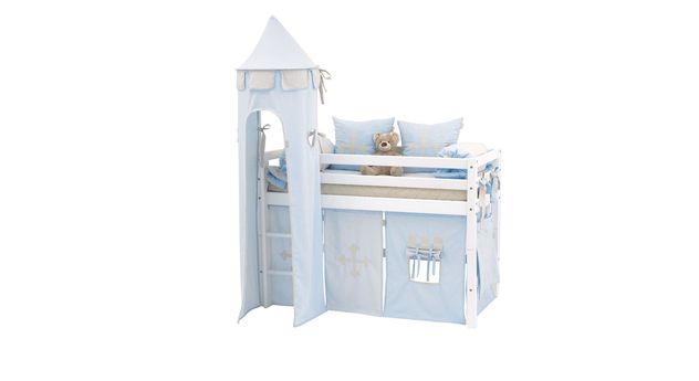 Halbhohes Bett Prinz mit 70x160 cm Liegefläche