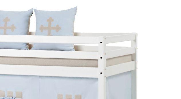 Halbhohes Bett Prinz inklusive Absturzsicherung für Kinder