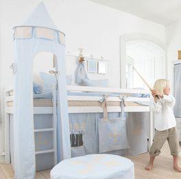 Halbhohes Bett Prinz umbaubar zum niedrigen Bett