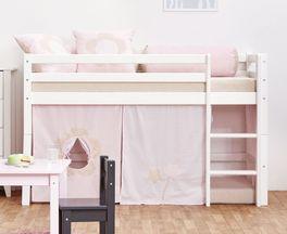 Halbhohes Bett Prinzessin inklusive gerader Leiter