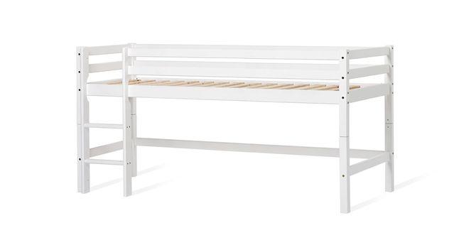 Halbhohes Kinderbett inklusive Leiter
