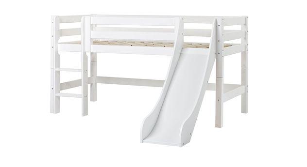 Modernes Halbhohes Rutschen-Bett Kids Royalty in 90x200 cm