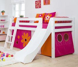 Halbhohes Rutschen-Bett Kids Royalty aus massivem Kiefernholz
