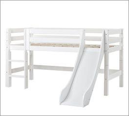 Halbhohes Rutschen-Bett Kids Royalty umbaubar zum Jugendbett