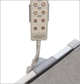 Handschalterhalterung flexibel für die Seitengitter von Pflegebetten