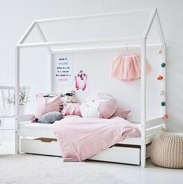 Hausbett Kids Heaven Girl mit 3-seitiger Bettumrandung