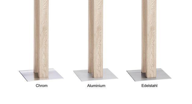 Metallplatte aus Edelstahl, Chrom oder Aluminium für Herrendiener