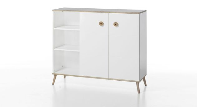 Highboard Beanos Retro-Füße aus Esche