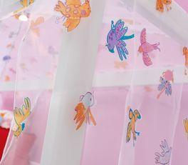 LIFETIME Himmel-Hochbett Little Bird mit niedlichen Vögeln am Vorhang
