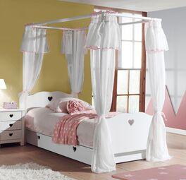 Romantisches Himmelbett Asami für Mädchen-Zimmer