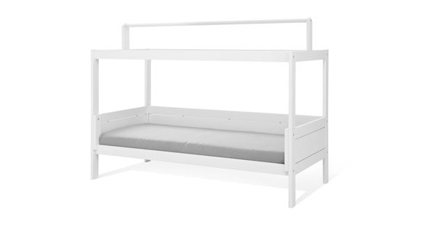 Himmelbett-Variante für Kinderbetten mit Dachfirst