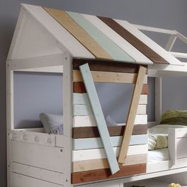 LIFETIME Hütten-Kojenbett Survival inklusive Hüttenaufbau mit Fenster