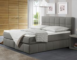Boxspringbett Belfort in moderner Optik in Grau
