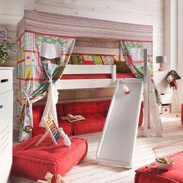 Himmel-Hochbett Kids Dreams aus Holz mit einer Gesamthöhe von 180 cm