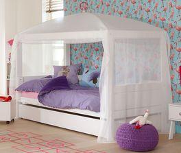 LIFETIME Kinderbett 4-in-1 mit hochwertigem Baldachin-Tuch