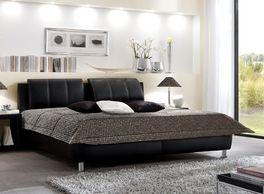 Luxus-Polsterbett Carisio aus Leder