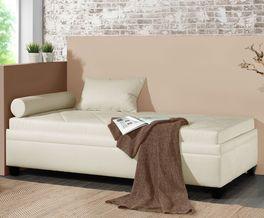 Rundum stoffbezogene Relaxliege Kamina
