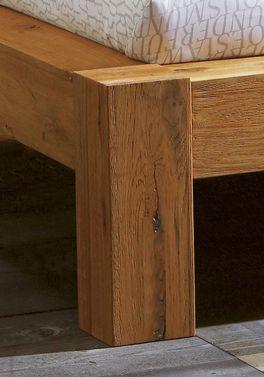 Hochwertiges Komforthöhe-Bett Rustico aus Massivholz