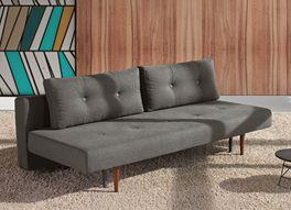 Tolles Design-Schlafsofa Barnes in dunkelgrauem Webstoff