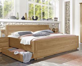 Schubkasten-Doppelbett Narita mit Kopfteil zum Anlehnen