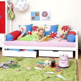 Sofabett Kids Royalty mit weiß lackiertem Bettgestell