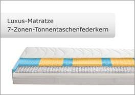 Tonnentaschenfederkern-Luxus-Matratze mit 7 Liegezonen