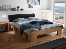Das Bett Prato aus Wildeiche ist auch in der Bettgröße 120x200cm erhältlich