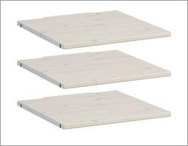LIFETIME Inneneinteilung Kleiderschrank mit Einlegeboden-Set aus Echtholz