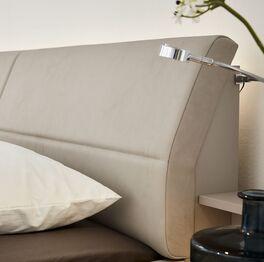 INTERLIVING Bett 1009s Kopfteil mit Kunstleder bezogen