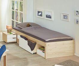 Modernes Jugendbett Erin mit 3 Schubladen
