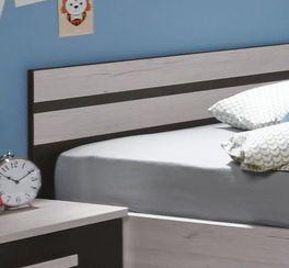 Modernes Jugendbett Mereto mit lavafarbenem Akzenten