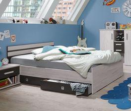 Preiswertes Jugendbett Mereto inklusive Schubkasten